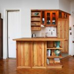 Mini Kitchen Units Cool Floor Wooden Island Wall Cabinets Shelves Faucet Traditional Style Room