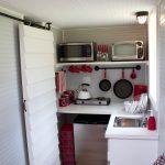 Mini Kitchen Units Stove Sink Faucet Shelf Rack Appliances Oven Cool Lamp Sliding Door Eclectic Room