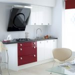 mini kitchen units tall chair wall cabinets painting table stove faucet sink contemporary style room