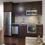 Mini Kitchen Units Wall Cabinets Faucet Sink Carpet Beautiful Floor Table Pillow Fridge Oven Transitional Style Room