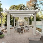 Modern Farmhouse Patio With Outdoor Fireplace Outdoor Furniture Sets White Pergola