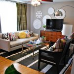 Nate Berkus Furniture Sofa Armchair Table Carpet Ceiling Fan Hardwood Floor Sideboard Tv Lamps Wall Decorations Eclectic Design