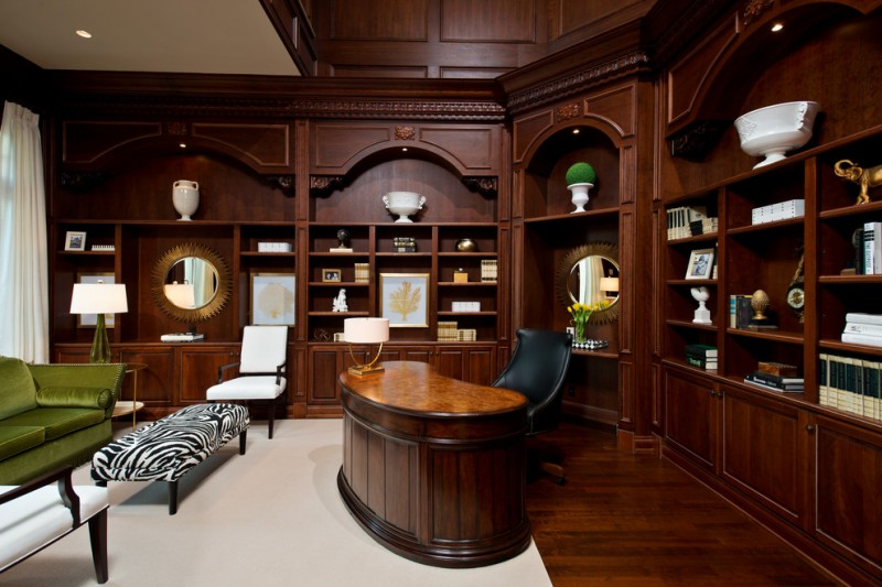 office decor ideas for work carpet chairs table lamps ceiling lights mirror paintings desk traditional home office