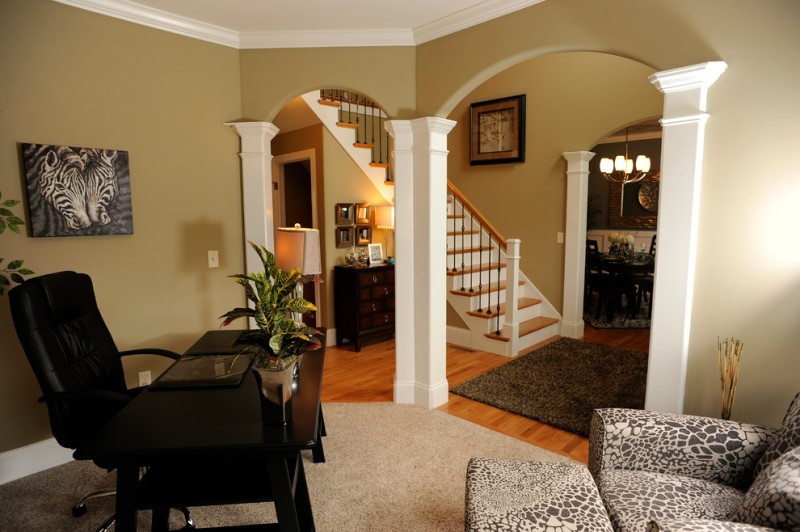 office decor ideas for work chair desk picture plant carpet chaise longue chandelier stairs traditional home office