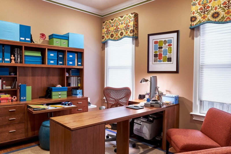 office decor ideas for work mat drawers storage items windows chairs desk wall decor lamp contemporary home office
