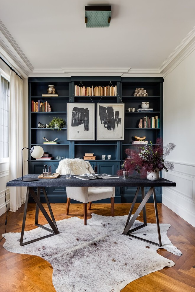 office decor ideas for work small carpet beautiful floor decorative plants books chair desk lamp paintings transitional home office
