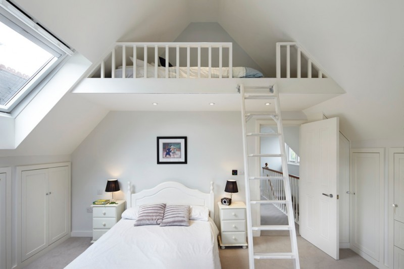 one bedroom cabin plans bedding loft stairs window built in cabinets sidetable lamps ceiling lights traditional design