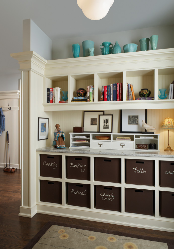 organization ideas for small spaces hardwood floor rug cabinetry files traditional design