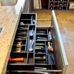 organization ideas for small spaces small divisions compartments storage drawer countertop sink linoleum floor contemporary design