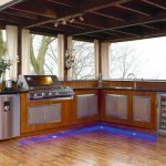 Outside Kitchen Design Curtains Cool Lamps Flowers Storage Modern Patio