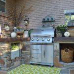 outside kitchen design stones small carpet faucet decorative plants traditional patio