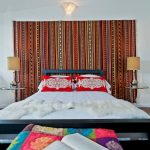 Penthouses In Los Angeles Bed Pillows Book Bedside Tables Lamps Eclectic Bedroom