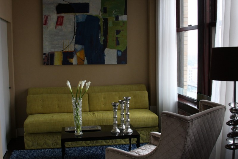 penthouses in los angeles carpet chair small table lamp curtains window painting modern family room