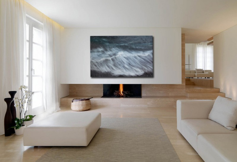 penthouses in los angeles flowers painting carpet curtains fireplace contemporary living room