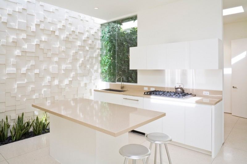 penthouses in los angeles stools island stove faucet sink ceiling light contemporary kitchen