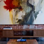 penthouses in los angeles table carpet books painting contemporary living room
