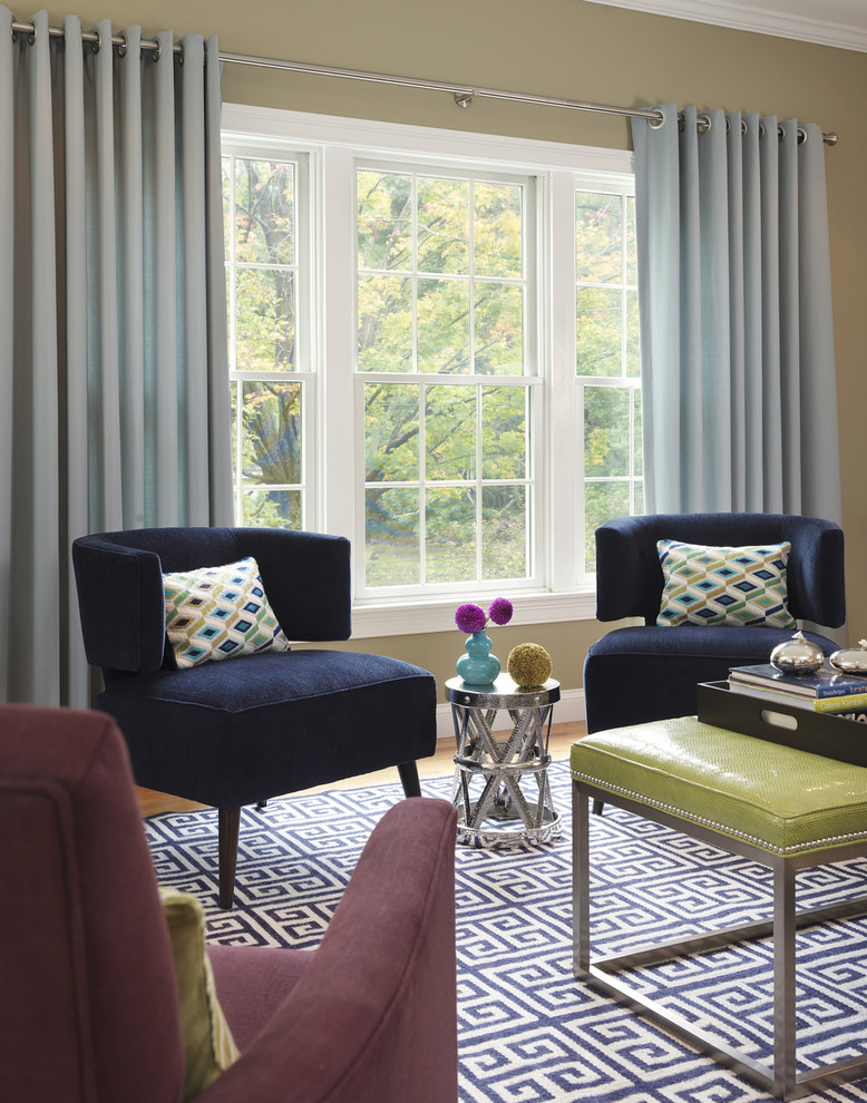 popular colors for living rooms chairs carpet chair ottoman window curtains rod sidetable hardwood floors transitional design