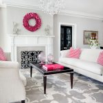 popular colors for living rooms couches table fireplace dried hydrangea carpet vase chandelier books transitional design