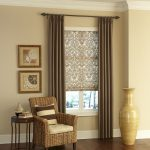 Roman Shades Outside Mount Classic Roman Shades In Essence Smoke Easy Drapery Panels Rattan Armchair Wooden Side Table