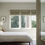 Roman Shades Outside Mount Pure White Table Lamp With White Base And Chrome Hardware White Bed Large Mirror Dusty Green Shades