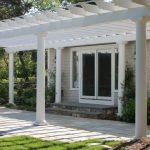 Simply White Pergola With Pillars