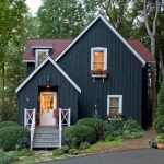 Small Rustic House Plans Dark Walls Stairs Decorative Plants Door Railings Lighting Roof Windows Cool Exterior