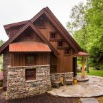 Small Rustic House Plans Pillars Stone Parts Wood Walls Chairs Small Windows Cute Exterior
