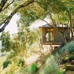 Small Rustic House Plans Stairs Walls Roof Railings Trees Plants Stunning Location Cool Exterior