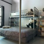 Toddler Bunk Bed Plans Galvanized Sheet Metal Unique Storage Big Bed And Small Bed Small Bedroom Pendant Large Window With Shutter Black Curtain Gray Bedding