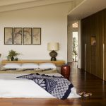 traditional japanese bed beautiful floor bedding painting pillows lamp decorative plant shoes midcentury bedroom