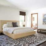 traditional japanese bed carpet wood floor painting lamps windows pillows bedding contemporary bedroom