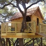 treehouses for kids bridge rope wood fence porch chair roofs window door eclectic design