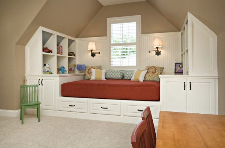 Under The Bed Storage Ideas Built In Shelves Chairs Light Fixtures Throw Pillows Decorations Beige Floors