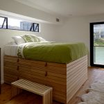 Under The Bed Storage Ikea Cabinetry Steps Hardwood Floors Carpet Double Glass Doors Window Wood Cabinet Modern Design