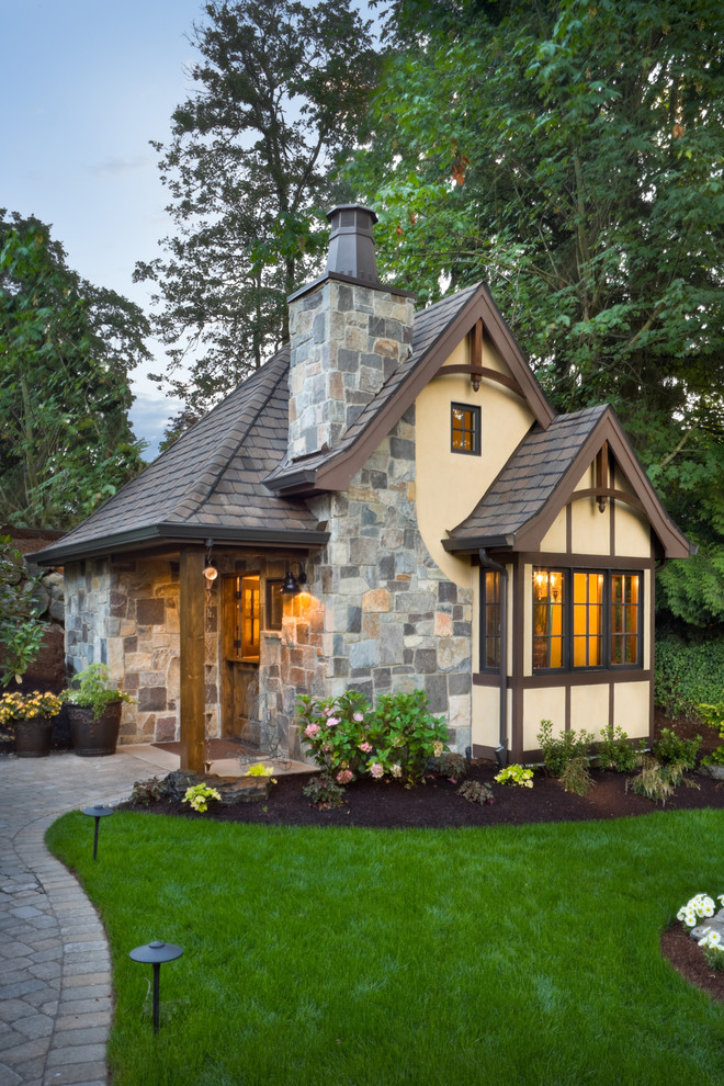 very small house plans grass windows lighting small window stone wall decorative plants traditional exterior