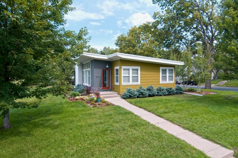 very small house plans pathway windows grass trees door beautiful walls fabulous midcentury exterior