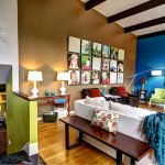 wall decorating ideas for living room photos painting chairs cool lamps pillow beautiful floor eclectic room