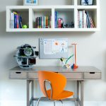Wall Unit With Desk Chair Cool Decoration Books Contemporary Kids Room