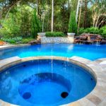 Waterfalls For Pools Stone Slate Small Hot Tub Pool Small Waterfall Stone Features Nice Small Firepits Curved Swimming Pool