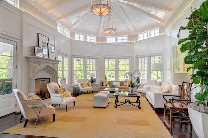 big lots living room sets sofa chairs couch table pillows carpet chandeliers big windows flowers traditional room