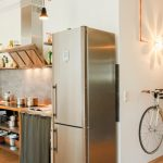 Bike Storage Apartment Angeled Range Hood Kitchen Bike Storage Bike Holder Nice Wall Pendant Industrial Kitchen Pendant Kitchen Cabinet With Small Curtain