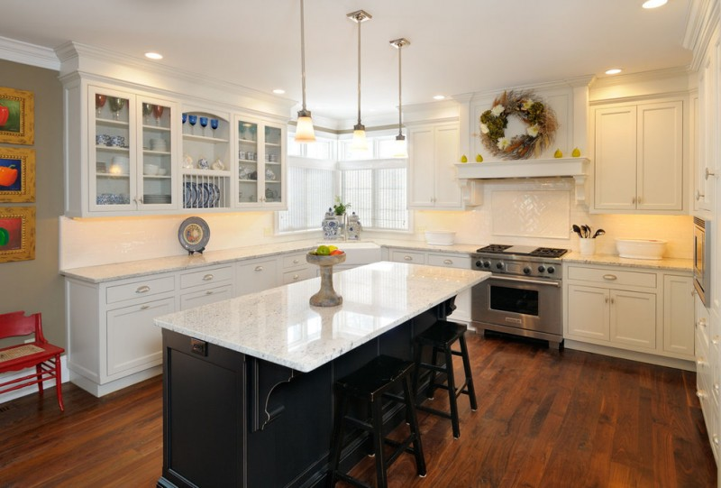 white kitchen island with black granite top spectacular black and white kitchen ideas you can apply 27989