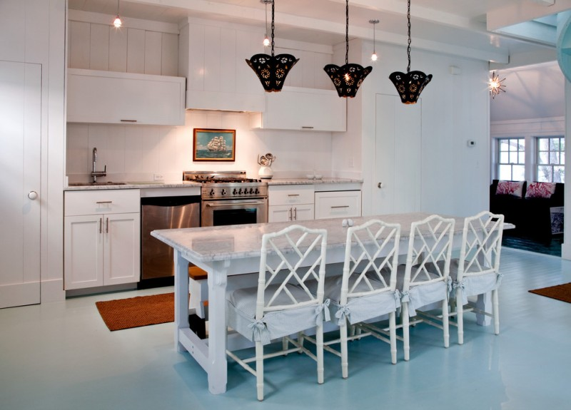 good colors to paint a kitchen birds egg floor very cool lamps hanging lights pillows stove painting wall cabinets chairs faucet sink beach style room
