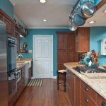 good colors to paint a kitchen cabinets fridge oven pans stove beautiful floor faucet sink white door traditional room