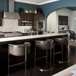 Good Colors To Paint A Kitchen Dark Floor Modern Chairs Long Island Chandelier Backsplash Stove Table Contemporary Room