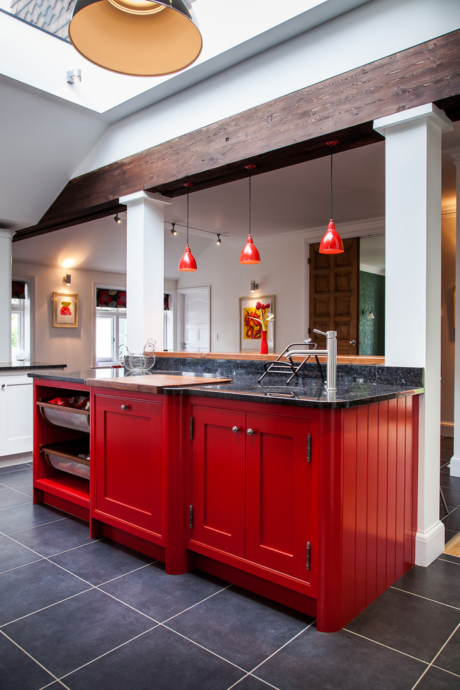 good colors to paint a kitchen deep rose cabinets cool hanging lamps dark floor modern lighting farmhouse room
