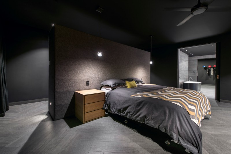 Dark Wooden Headboard