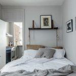 hanging lights for bedroom framed paintings white walls hanging shelf bed bedding door eclectic design