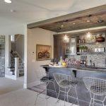 Home Bar Setup Bertola Bar Stool With Seat Pad Industrial Edison 1 Light Glass Shade Ceiling Pendant Light Backplash
