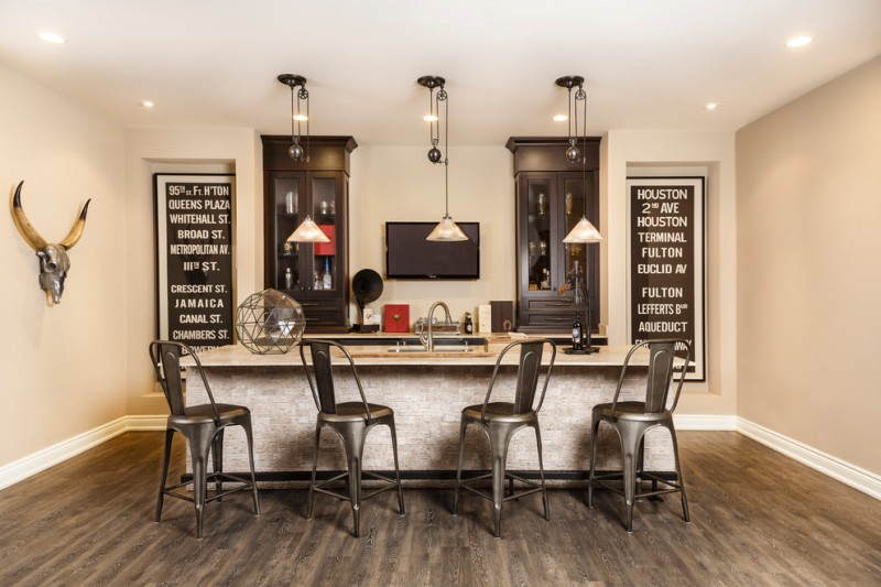 home bar setup tolix bar stools bull skull wall decor stainless steel pull down faucet sterling bronze structural orb wine cabinet unique pendants